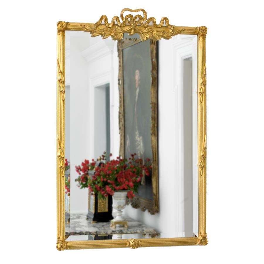 Bow Top Mirror Antique Gold Mirrors Mirrors Home