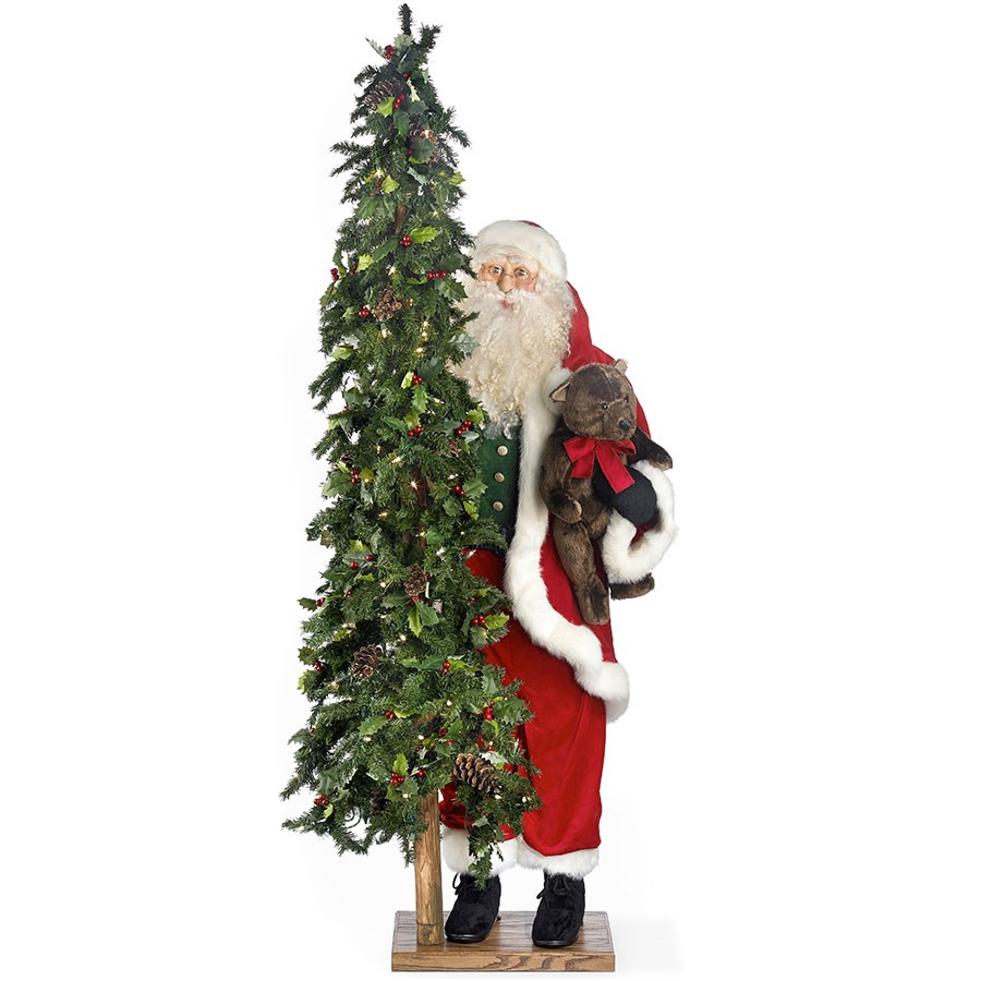 """Homemade Standing Desk Home Design Ideas """"Simple Gifts"""" Standing Santa Claus with Lighted Christmas ..."""