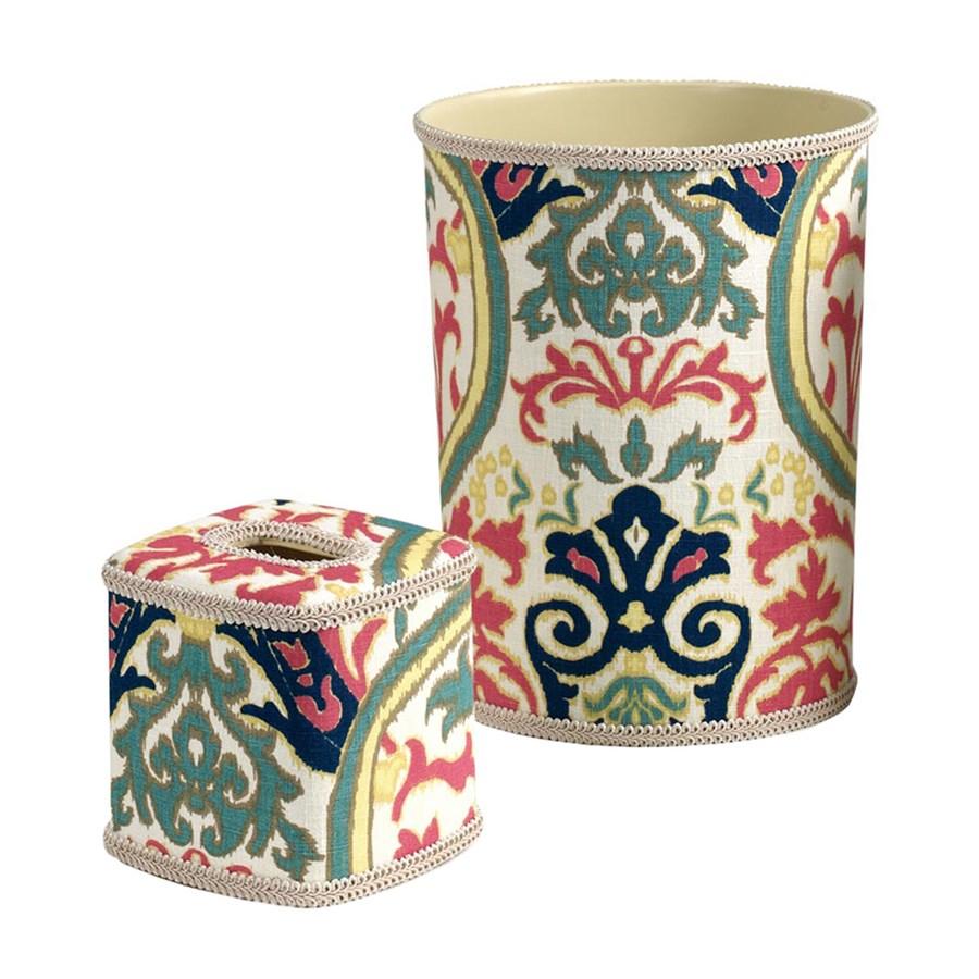 Garden gate wastebasket tissue box cover wastebaskets home decor accessories home decor - Covered wastebasket ...