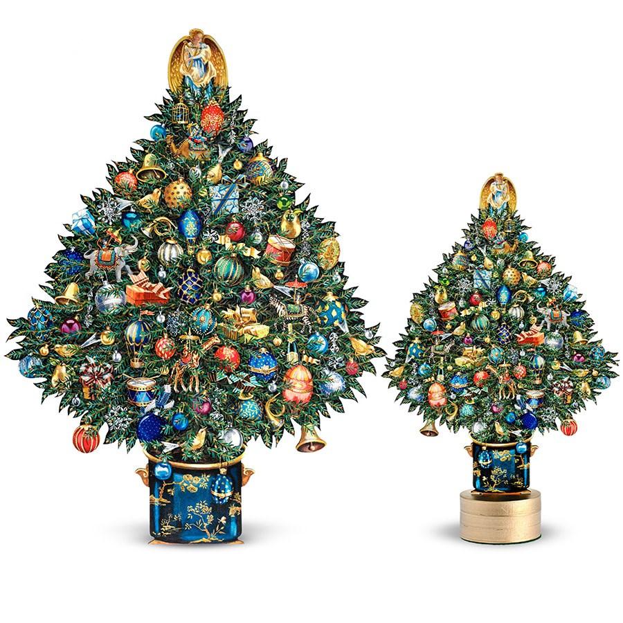 Christmas Tree Collection Trowbridge : Trompe l oeil christmas trees