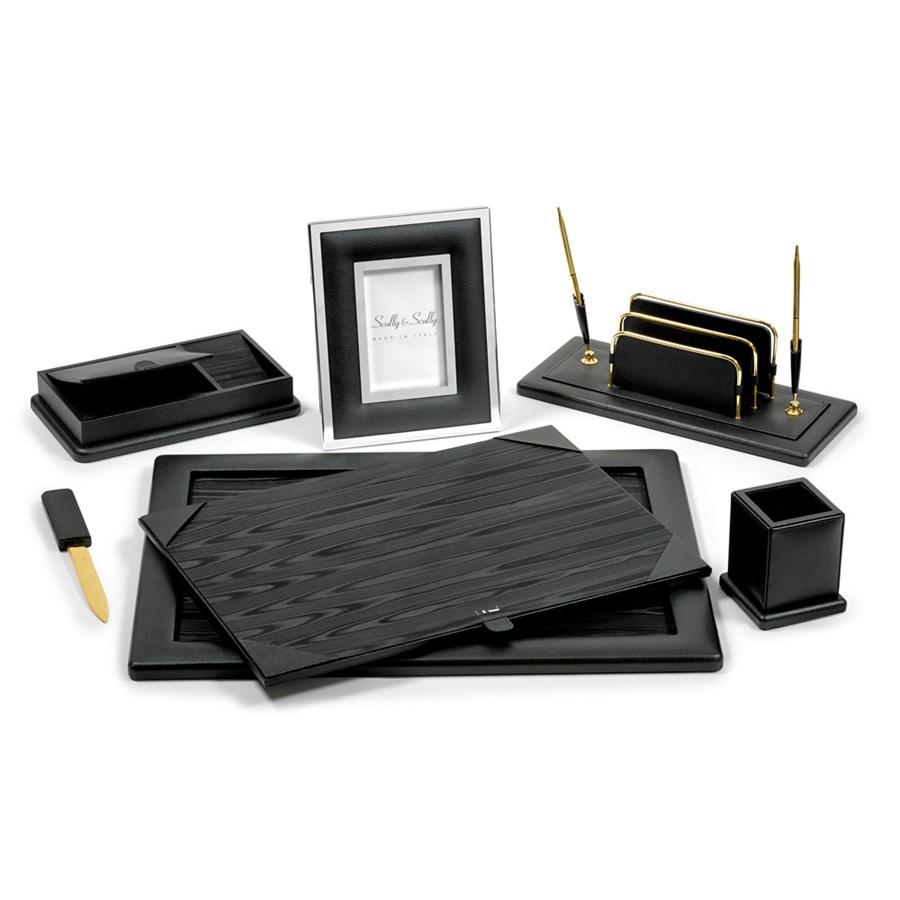 Colonial 5 Piece Leather Desk Sets