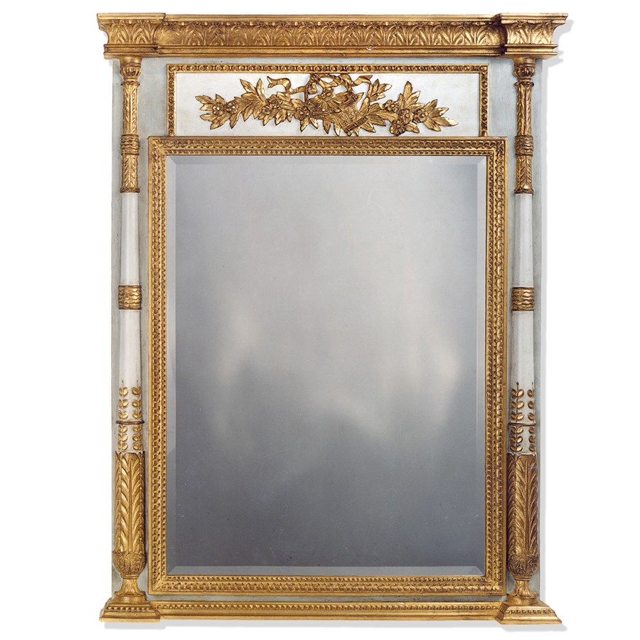 Gilded Age Trumeau Mirror Gold Grey Mirrors Mirrors
