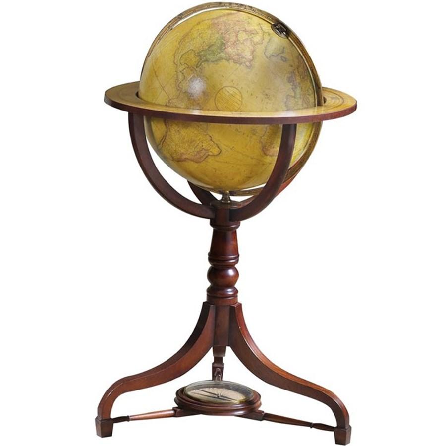 Nelson Terrestrial Floor Globe Mahogany Globes Office