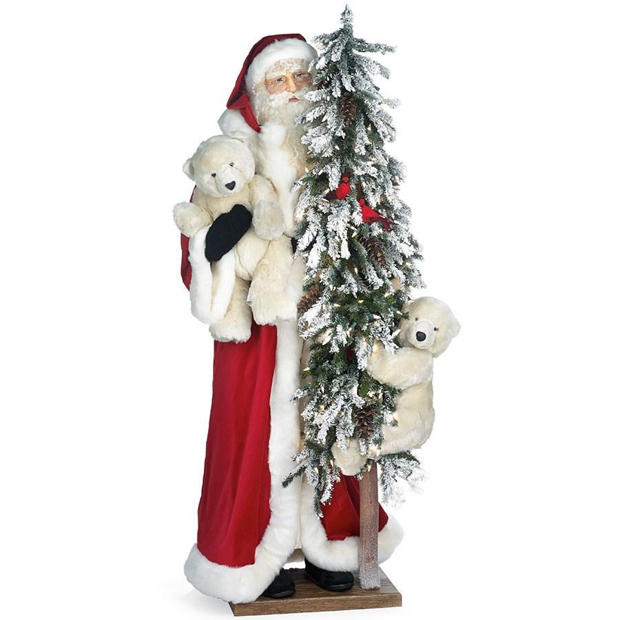 Alpine christmas santa 2 polar bear cubs christmas for H h christmas decorations