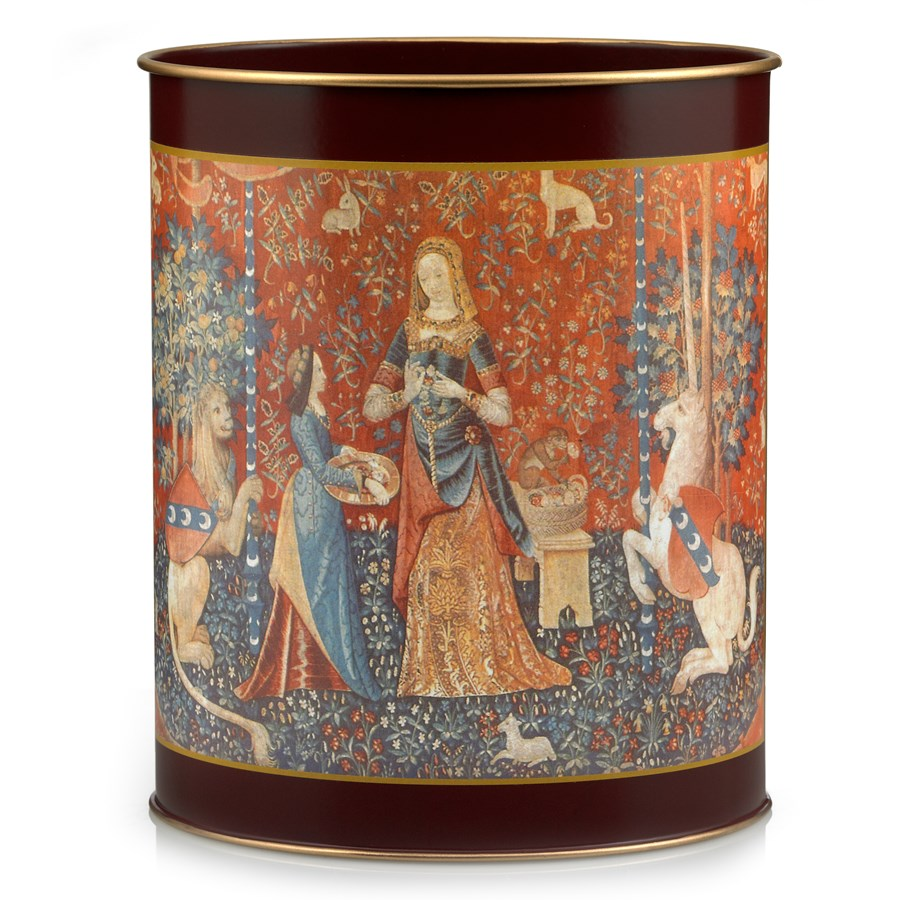 Pallas tapestry wastebasket wastebaskets home decor for Home decor and accessories