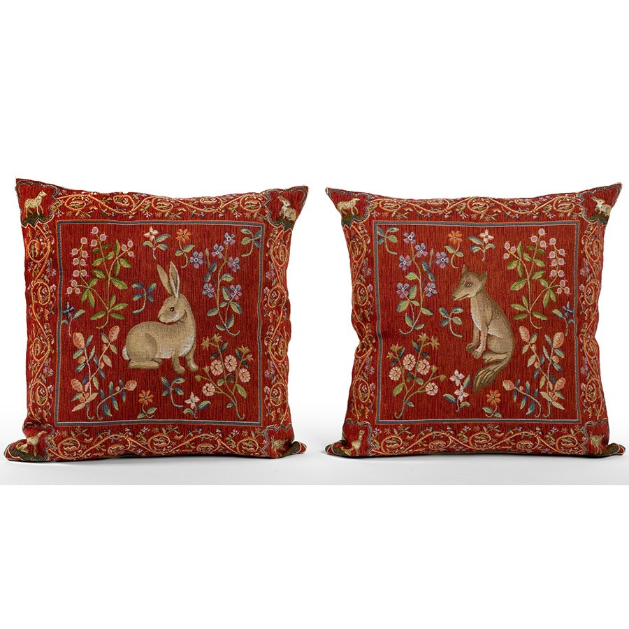 Medieval Animal Tapestry Pillows Pillows Home Decor